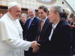 pope with Rachel Grimes